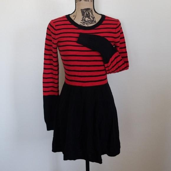 437f7ba5d1 Express Dresses   Skirts - Express flattering striped knit sweater dress